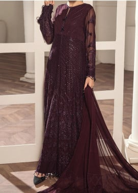 Alizeh Fashion by Bilal Embroidery Embroidered Chiffon Unstitched 3 Piece Suit AFB20-C2 11 Abilene - Luxury Collection