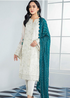 Alizeh Fashion by Bilal Embroidery Embroidered Chiffon Unstitched 3 Piece Suit AFB20-C3 02 Anahita - Luxury Collection