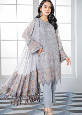 Alizeh Fashion by Bilal Embroidery Embroidered Chiffon Unstitched 3 Piece Suit AFB20-C3 07 Zarbin - Luxury Collection
