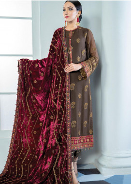 Alizeh Fashion by Bilal Embroidery Embroidered Chiffon Unstitched 3 Piece Suit AFB20-C3 09 Suri - Luxury Collection