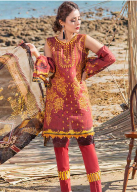 Alyssa by Banafsheh Embroidered Lawn Unstitched 3 Piece Suit BF20AL 7 - Summer Collection