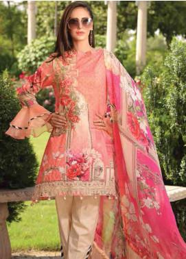 Motifz Embroidered Lawn Unstitched 3 Piece Suit AMT19F 2246 Peachy Pearl - Festive Collection