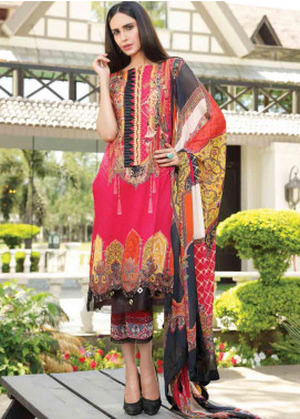 Motifz Embroidered Lawn Unstitched 3 Piece Suit AMT19F 2249 Royal Mist - Festive Collection