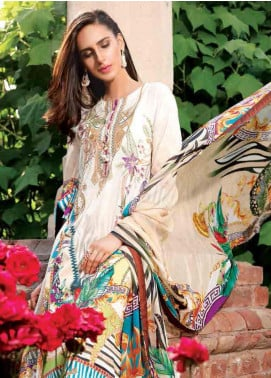 Motifz Embroidered Lawn Unstitched 3 Piece Suit AMT19F 2251 Boheme Safari - Festive Collection
