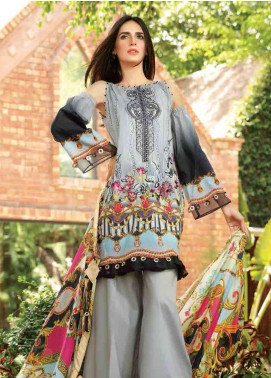 Motifz Embroidered Lawn Unstitched 3 Piece Suit AMT19F 2252 Rusty Glam - Festive Collection