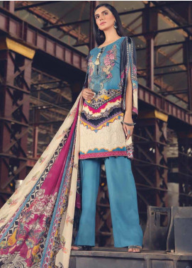 AMAL by Motifz Embroidered Linen Unstitched 3 Piece Suit AMT19L 2385-FOLK-FANTASY  - Winter Collection