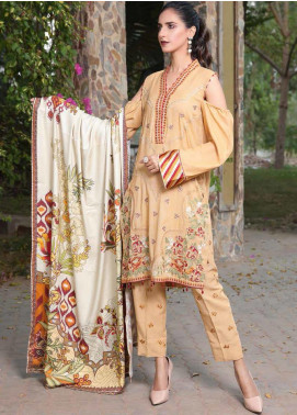 AMAL by Motifz Embroidered Karandi Unstitched 3 Piece Suit AMT19LK 2407 Rustic Notch - Winter Collection