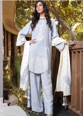 AMAL by Motifz Embroidered Karandi Unstitched 3 Piece Suit AMT19LK 2408 Blue Haze - Winter Collection