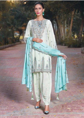 AMAL by Motifz Embroidered Karandi Unstitched 3 Piece Suit AMT19LK 2409 Folk Jade - Winter Collection