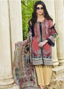 Amal by Motifz Embroidered Lawn Unstitched 3 Piece Suit AMT19-F3 2311 RUBY REALM - Festive Collection