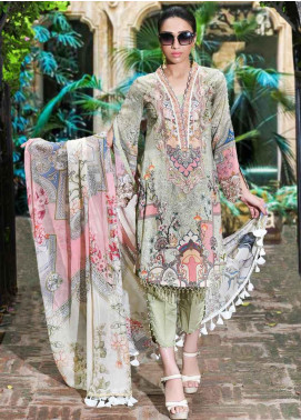 Amal by Motifz Embroidered Lawn Unstitched 3 Piece Suit AMT19-F3 2313 TURKISH SUMMER - Festive Collection