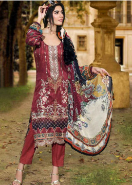 Amal by Motifz Embroidered Lawn Unstitched 3 Piece Suit AMT19-F3 2314 VINTAGE OBESSION - Festive Collection