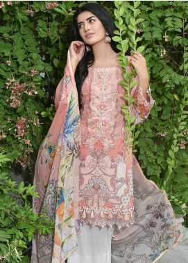 Amal by Motifz Embroidered Lawn Unstitched 3 Piece Suit AMT19-F3 2315 CORAL EMPIRE - Festive Collection