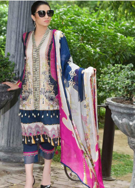 Amal by Motifz Embroidered Lawn Unstitched 3 Piece Suit AMT19-F3 2316 MORROCAN JEWEL - Festive Collection