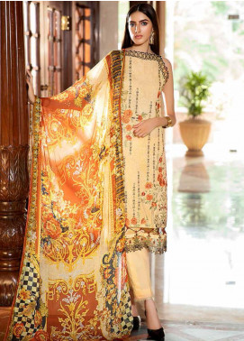 Amal by Motifz Embroidered Lawn Unstitched 3 Piece Suit AMT20F 2596 Timer Wolf - Festive Collection