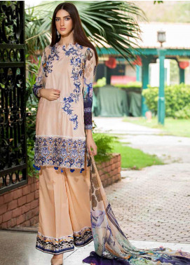 Amal by Motifz Embroidered Lawn Unstitched 3 Piece Suit AMT20F 2599 French Rose - Festive Collection
