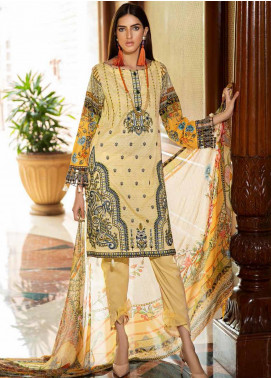 Amal by Motifz Embroidered Lawn Unstitched 3 Piece Suit AMT20F 2602 Dust Storm - Festive Collection