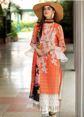 Amal by Motifz Embroidered Lawn Unstitched 3 Piece Suit AMT20F 2605 - Festive Collection
