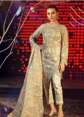 Amaltaas Embroidered Net Unstitched 3 Piece Suit ATS19F ARIA - Wedding Collection