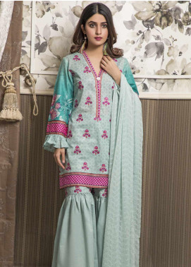 Amani by ZS Textile Embroidered Chikankari Unstitched 3 Piece Suit AZS19C 05B - Mid Summer Collection