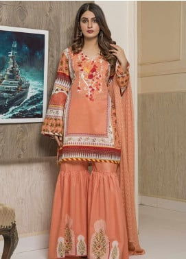 Amani by ZS Textile Embroidered Chikankari Unstitched 3 Piece Suit AZS19C 08A - Mid Summer Collection