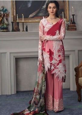 Asifa & Nabeel Embroidered Lawn Unstitched 3 Piece Suit AN19L 15R Wish Away - Spring / Summer Collection