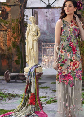 Asifa & Nabeel Embroidered Lawn Unstitched 3 Piece Suit AN19L 6Y Dreams - Spring / Summer Collection