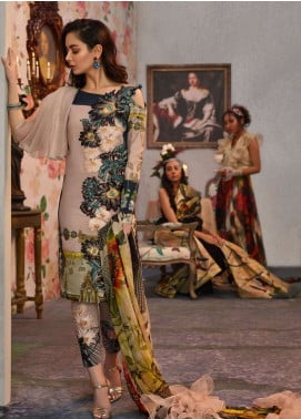 Asifa & Nabeel Embroidered Lawn Unstitched 3 Piece Suit AN19L 7B Curious - Spring / Summer Collection