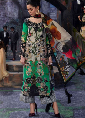 Asifa & Nabeel Embroidered Lawn Unstitched 3 Piece Suit AN19L 8L Flutter - Spring / Summer Collection