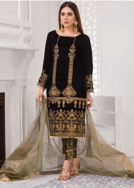 Amna Eman By Noor Jahan Embroidered Velvet Unstitched 3 Piece Suit NJ21AE 02 - Festive Collection