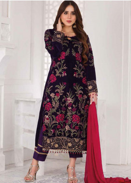 Amna Eman By Noor Jahan Embroidered Velvet Unstitched 3 Piece Suit NJ21AE 05 - Festive Collection