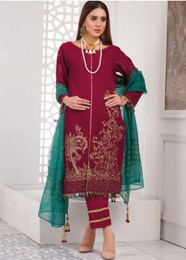 Amna Eman By Noor Jahan Embroidered Velvet Unstitched 3 Piece Suit NJ21AE 06 - Festive Collection