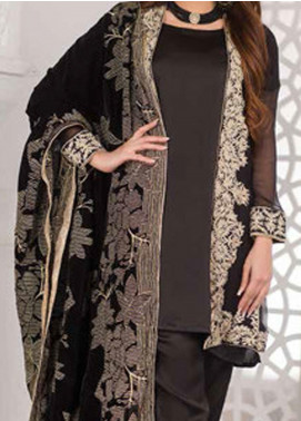 Amna Eman By Noor Jahan Embroidered Velvet Unstitched 3 Piece Suit NJ21AE 08 - Festive Collection