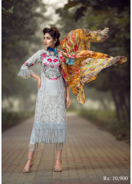 Asifa & Nabeel Embroidered Raw Silk Unstitched 3 Piece Suit AN17C 02