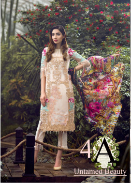 Asifa & Nabeel Embroidered Chiffon Unstitched 3 Piece Suit AN17C 04