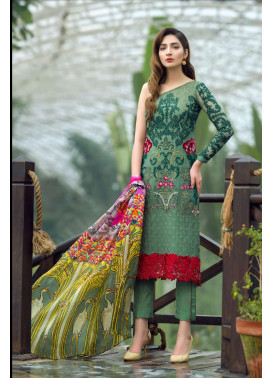 Asifa & Nabeel Embroidered Chiffon Unstitched 3 Piece Suit AN17C 06