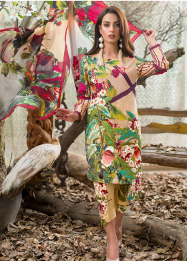 Asifa & Nabeel Embroidered Lawn Unstitched 3 Piece Suit AN18E 06 - Festive Collection