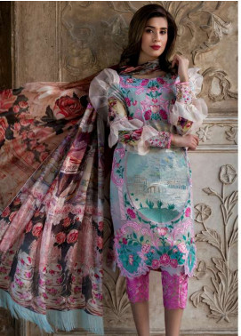 Asifa & Nabeel Embroidered Lawn Unstitched 3 Piece Suit AN18L 02 LAVENDER - Spring / Summer Collection