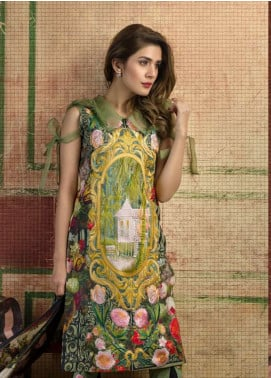 Asifa & Nabeel Embroidered Lawn Unstitched 3 Piece Suit AN18L 07 CROWNED GARDEN - Spring / Summer Collection