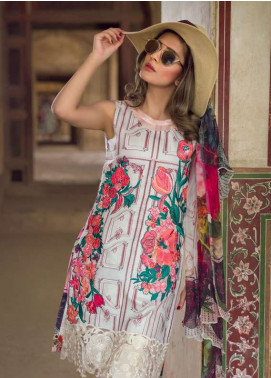 Asifa & Nabeel Embroidered Lawn Unstitched 3 Piece Suit AN18L 08 TICK TOCK - Spring / Summer Collection