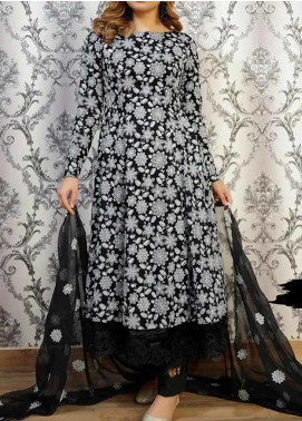 Anamta Embroidered Lawn Unstitched 3 Piece Suit ANT20B BL-02 - Black & White Collection