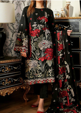Anamta Embroidered Lawn Unstitched 3 Piece Suit ANT20B BL-04 - Black & White Collection
