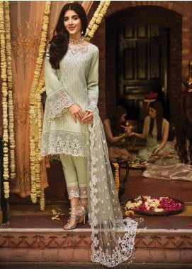 Anaya by Kiran Chaudhry Embroidered Lawn Unstitched 3 Piece Suit AKC19F 03 ZAHARA - Festive Collection