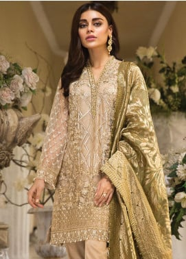 Anaya by Kiran Chaudhry Embroidered Organza Unstitched 3 Piece Suit AKC19E 01 SIMONE - Festive Collection