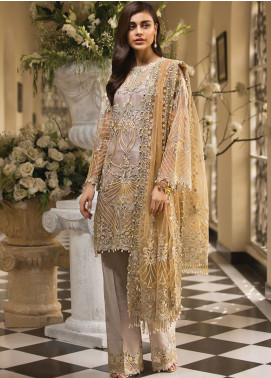Anaya by Kiran Chaudhry Embroidered Organza Unstitched 3 Piece Suit AKC19E 04 CARLA - Festive Collection