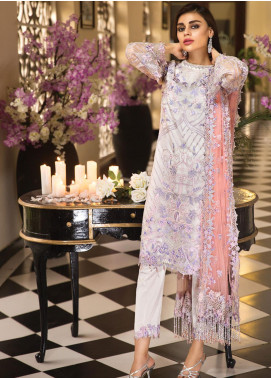 Anaya by Kiran Chaudhry Embroidered Organza Unstitched 3 Piece Suit AKC19E 07 FLORENCE - Festive Collection