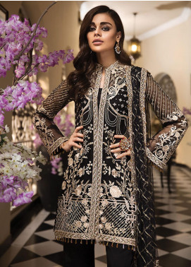 Anaya by Kiran Chaudhry Embroidered Organza Unstitched 3 Piece Suit AKC19E 08 NORA - Festive Collection