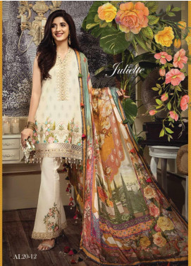 Anaya By Kiran Chaudhry Embroidered Lawn Unstitched 3 Piece Suit AKC20L 12 JULIETTE - Luxury Collection
