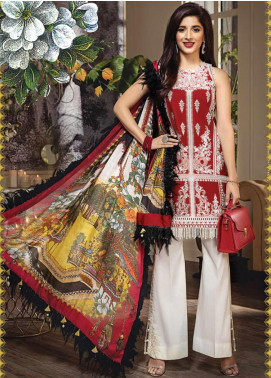 Anaya By Kiran Chaudhry Embroidered Lawn Unstitched 3 Piece Suit AKC20L 13 CLARISSA - Luxury Collection