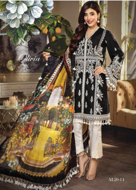 Anaya By Kiran Chaudhry Embroidered Lawn Unstitched 3 Piece Suit AKC20L 14 OLIVIA - Luxury Collection